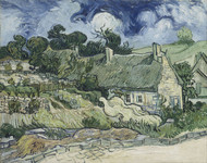 Art Prints of Thatched Cottages at Cordeville by Vincent Van Gogh
