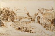 Art Prints of Two Cottages at Saintes Maries de la Mer by Vincent Van Gogh