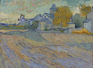 Art Prints of View of the Asylum and Chapel of Saint Remy by Vincent Van Gogh