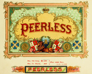 Art Prints of Peerless Cigars, Vintage Cigar Label