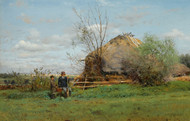 Art Prints of Early Autumn in the Village by Vladimir Egorovich Makovsky