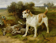 Art Prints of Guarding the Day's Bag by Walter Hunt