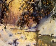 Art Prints of Brook and Hemlocks by Walter Launt Palmer