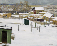 Art Prints of Taos in the Snow by Walter Ufer