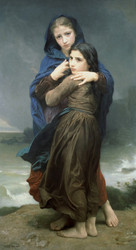 Art Prints of The Storm by William Bouguereau
