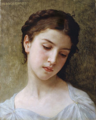 Art Prints of Head of a Young Girl by William Bouguereau