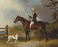 Art Prints of A Gentleman with His Hunter and Pointer by William Barraud