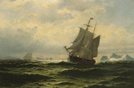 Art Prints of Arctic Whalers Homeward Bound by William Bradford