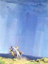 Art Prints of The Shower by William Herbert Dunton