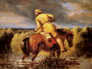 Art Prints of The Trappers Last Shot by William Tylee Ranney