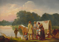 Art Prints of Waiting for the Ferry by William Tylee Ranney