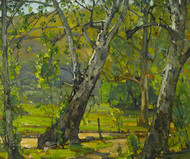 Art Prints of A Grove of Trees by William Wendt