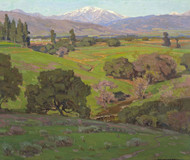 Art Prints of Rolling Hills with Snow Capped Mountains Beyond by William Wendt