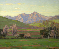 Art Prints of Verdant Landscape with Mountains beyond by William Wendt
