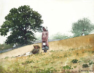 Art Prints of Boy and Girl on a Hillside by Winslow Homer