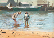 Art Prints of Boys Wading by Winslow Homer