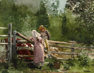 Art Prints of Feeding Time by Winslow Homer