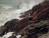 Art Prints of High Cliff, Coast of Maine by Winslow Homer