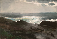 Art Prints of Sunshine and shadow, Prout's Neck by Winslow Homer