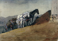 Art Prints of The Hilltop Barn by Winslow Homer