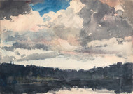 Art Prints of The Lone Boat, North Woods Club, Adirondacks by Winslow Homer