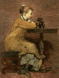 Art Prints of Woman and Elephant by Winslow Homer