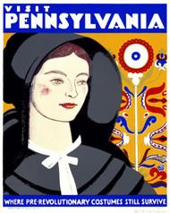 Art Prints of Visit Pennsylvania, WPA Poster