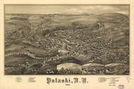 Art Prints of Pulaski, New York, Bird's Eye View by an Unknown Artist