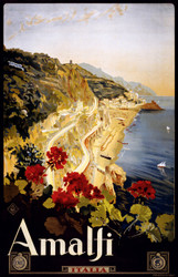 Art Prints of Amalfi Travel Poster, Travel Posters