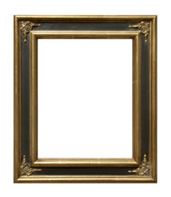 Museum Quality Simple Black & Gold Colonial Frame