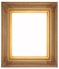 Museum Quality Fluted Empire Gold Frame