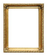 Museum Quality Beaded Gold Scoop Frame