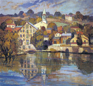 Lambertville on the Delaware, 1928 by Fern Coppedge