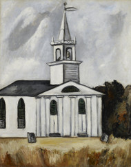 Church at Lead Tide by Marsden Hartley   Fine Art Print