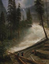 Nevada Falls, Yosemite by Albert Bierstadt | Fine Art Print