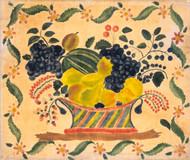 Art Prints of Basket of Fruit by 19th Century American Artist