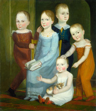 Art Prints of Five Children of the Budd Family by 19th Century American Artist