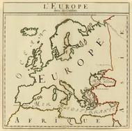 Art Prints of L'Europe, 1693 (3658013) by Abbe de Dangeau