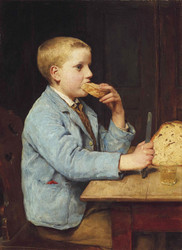 Art Prints of Boy Eating Bread by Albert Anker
