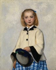 Art Prints of The Artist's Daughter, Louise, 1874 by Albert Anker
