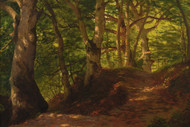 Art Prints of A Path Through the Forest by Albert Bierstadt