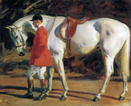 Art Prints of The Artist's Favorite Grey Hunter Isaac by Alfred James Munnings