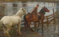 Art Prints of Crossing the Ford by Alfred James Munnings