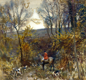 Art Prints of The Spinney in the Hollow by Alfred James Munnings