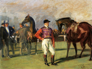 Art Prints of The Queens Jockey by Alfred James Munnings