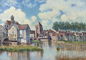 Art Prints of Moret sur Loing by Alfred Sisley
