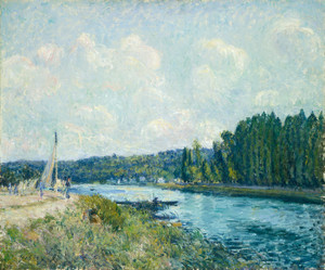 Art Prints of The Banks of the Oise by Alfred Sisley