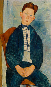 Art Prints of Boy in a Striped Sweater by Amedeo Modigliani