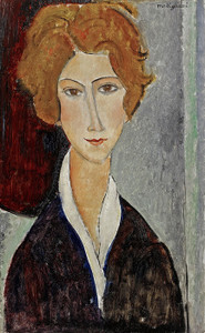 Art Prints of Portrait of a Woman by Amedeo Modigliani