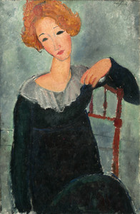 Art Prints of Woman with Red Hair by Amedeo Modigliani